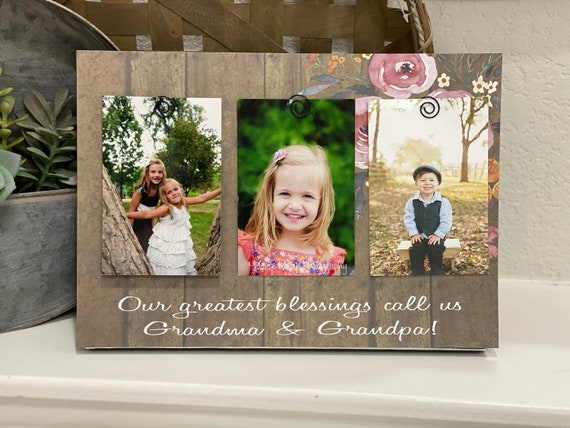 My Greatest Blessings Call Me Grandma | personalized frame grammie nana mimi customize with kids names and birthdates! Picture frame gift!