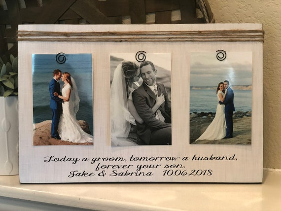 Wedding Thank You Gift For Parents Of The Groom | Today A Groom Tomorrow A Husband Forever Your Son Frame