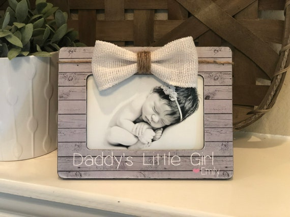 Christmas Gift For Dad | Personalized Gift For Husband From Daughter | Daddy's Girls | Dad's Little Girl | Personalized Gift 4x6  Frame