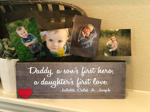 Christmas Gift For Dad | Personalized  Gift For Husband From Kids | Photo Block For Dad | First Christmas Gift | New Dad Gift