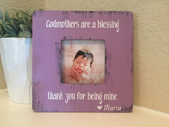 Godmothers are a blessing Godmother frame Godparents frame gift ...