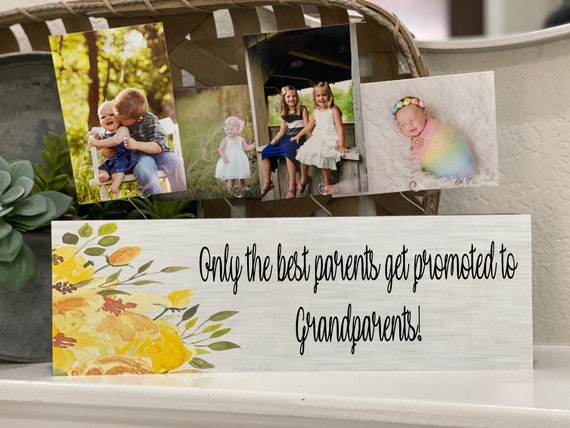 Only The Best Parents Get Promoted To Grandparents Grandma Personalized Frame Gift Nana Papa Great Grandma Gigi Mimi Grandpa Grammie Granny