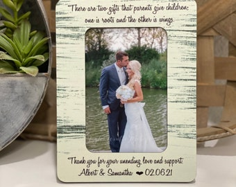 Personalized Wedding Thank You Gift For Parents Of Bride & Groom | There Are Two Gifts That Parents Give Children...