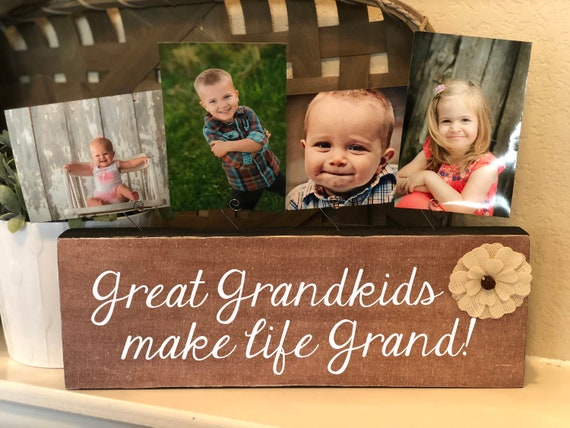 Great Grandkids Make Life Grand |  Personalized Picture Frame | Gift For Great Grandparents | Christmas Gift