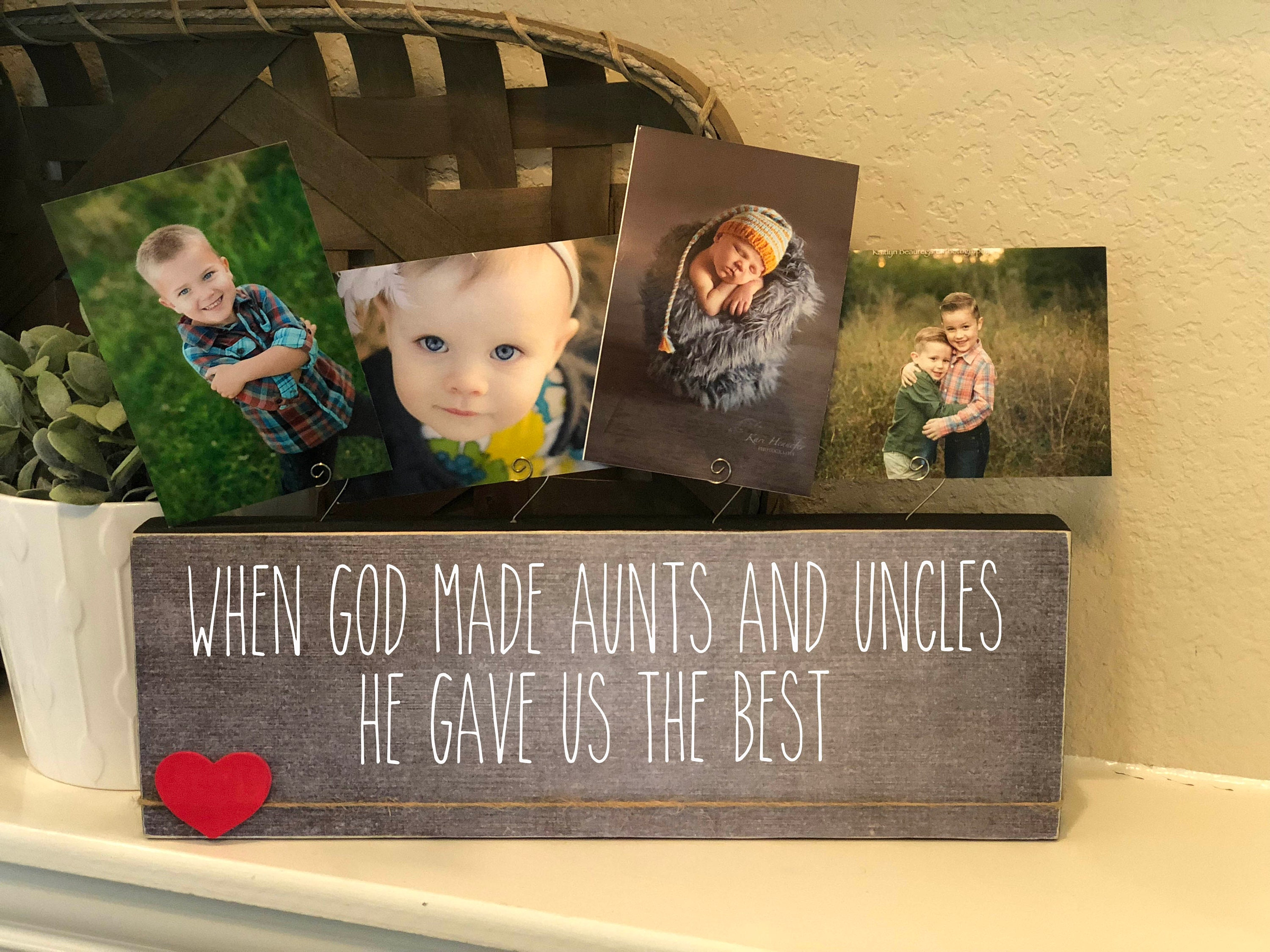 Aunt & Uncle Christmas Gift Personalized Picture Frame Board   Etsy