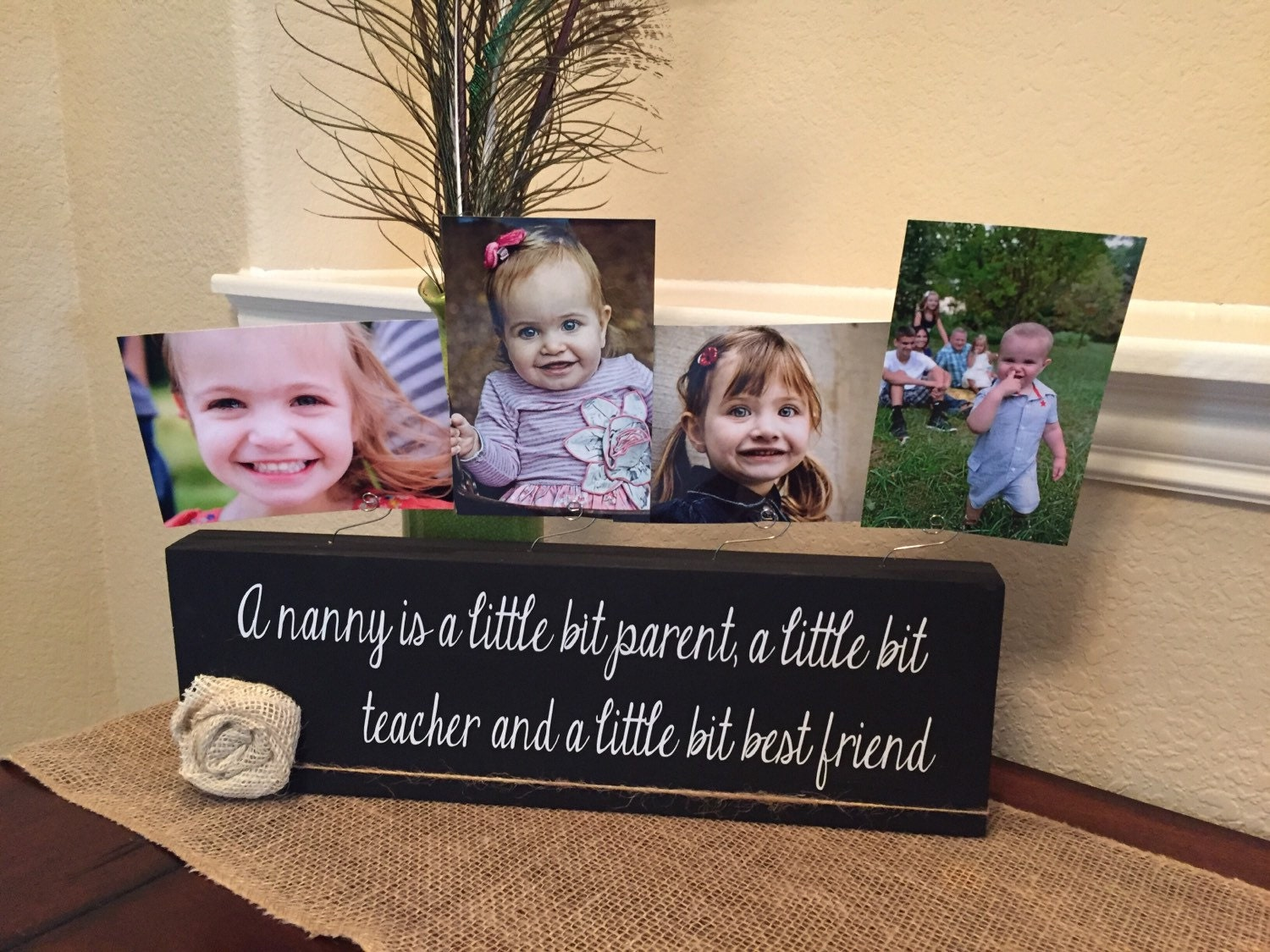 Nanny Picture Frame Board Teacher Nanny Aunt New Baby Shower Great