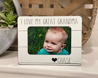 Mother's Day Gift For Great Grandma | Personalized Gift For Great Grandma | Gift From Grandchild | I Love My Great Grandma | 4x6 Frame
