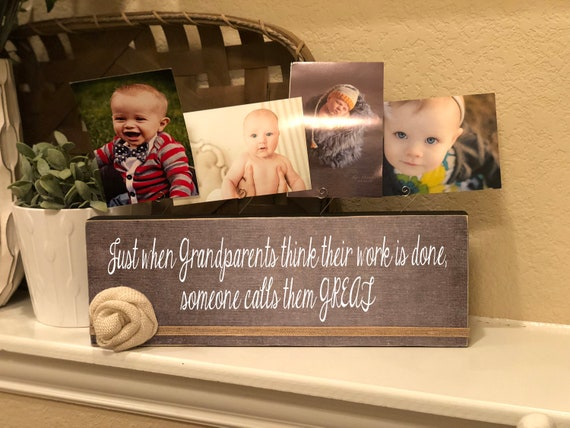 Great Grandparents Gift | Personalized Gift For Great Grandparents |  Just When Grandparents Think Their Work Is Done...