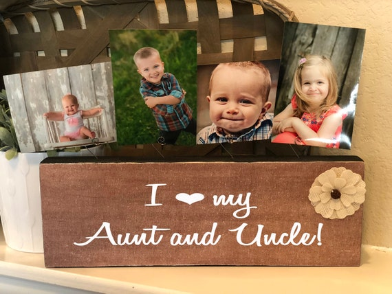 Aunt & Uncle Gift | I Love My Aunt Uncle Picture Frame | Personalized Uncle Picture Frame Block | Uncle Aunt Grandma Grandpa Papa Brother