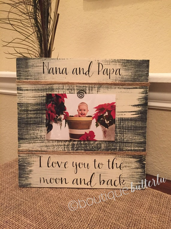 Nana papa Personalized picture frame mimi nana gigi grandma ...