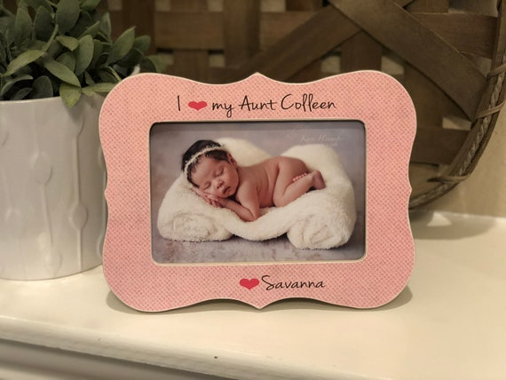 Mother's Day Gift For Aunt | I Love My Aunt Gift | Aunt Personalized Picture Frame | Aunt Mother's Day Gift | Aunt Auntie From Niece Nephew