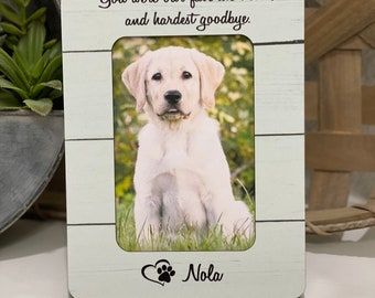 Pet Loss Gift | Dog Memorial Gift | Personalized Gift For Pet Memorial | Dog Mom | You Were My Favorite Hello And Hardest Goodbye