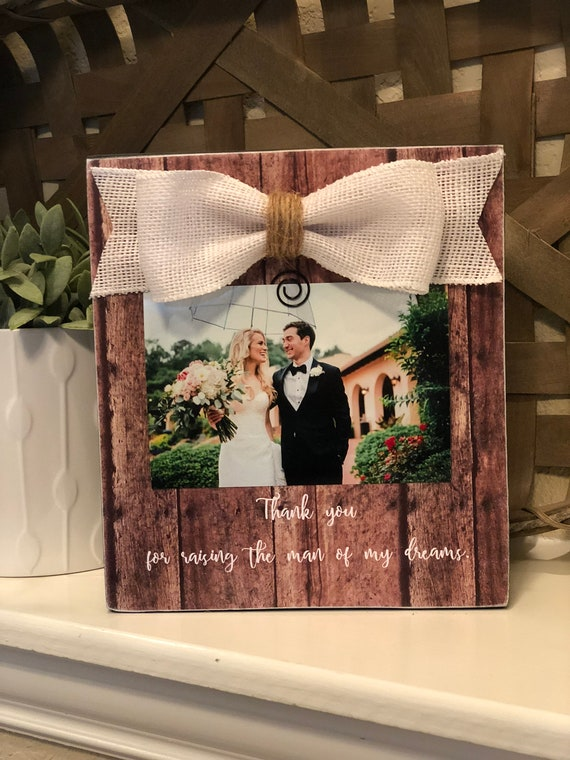 Thank You For Raising The Man Of My Dreams Gift For Parents Of The Groom | Wedding Gift For Parents Of The Groom | In Laws Gift