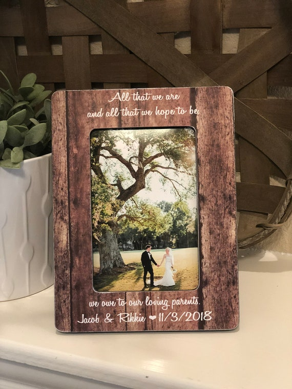 Parents Of The Groom | Parents Of The Bride|  All That We Are And Hope To Be Parents Gift Wedding Thank You For Parents Of The Bride Groom