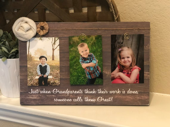 Great Grandparent Gift | Mother's Day Gift For Great Grandparents | Just When Grandparents Think Their Work Is Done...