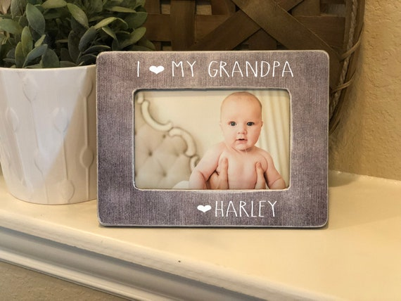 Grandpa Gift | Christmas Gift Grandpa | I Love My Grandpa | Grandpa Personalized Gift | 4x6 Picture Frame Custom For Dad Papa Gramp