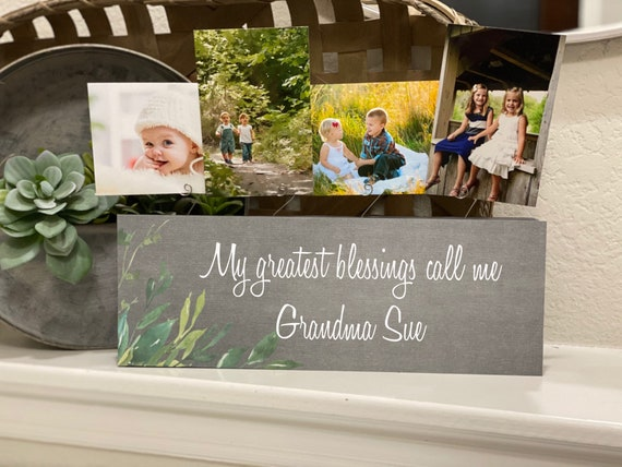 Grandma Christmas Gift | Grandmas Hold Our Tiny Hands Gift | Picture Frame Board For Grandma