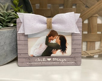 Engagement Gift Personalized Engagement Picture Frame Gift for Girlfriend Boyfriend Engagement Gift Valentines Day Gift