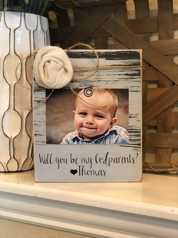 Godparents Proposal Will You Be My Godparents Gift for Godparents Godparents Gift Baptism Gift Godparents 4x6 Personalized Frame