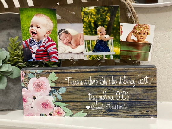 Christmas Gift For Gigi | Grandma Christmas Gift | There Are These Kids Who Stole My Heart They Call Me Gigi Picture Frame