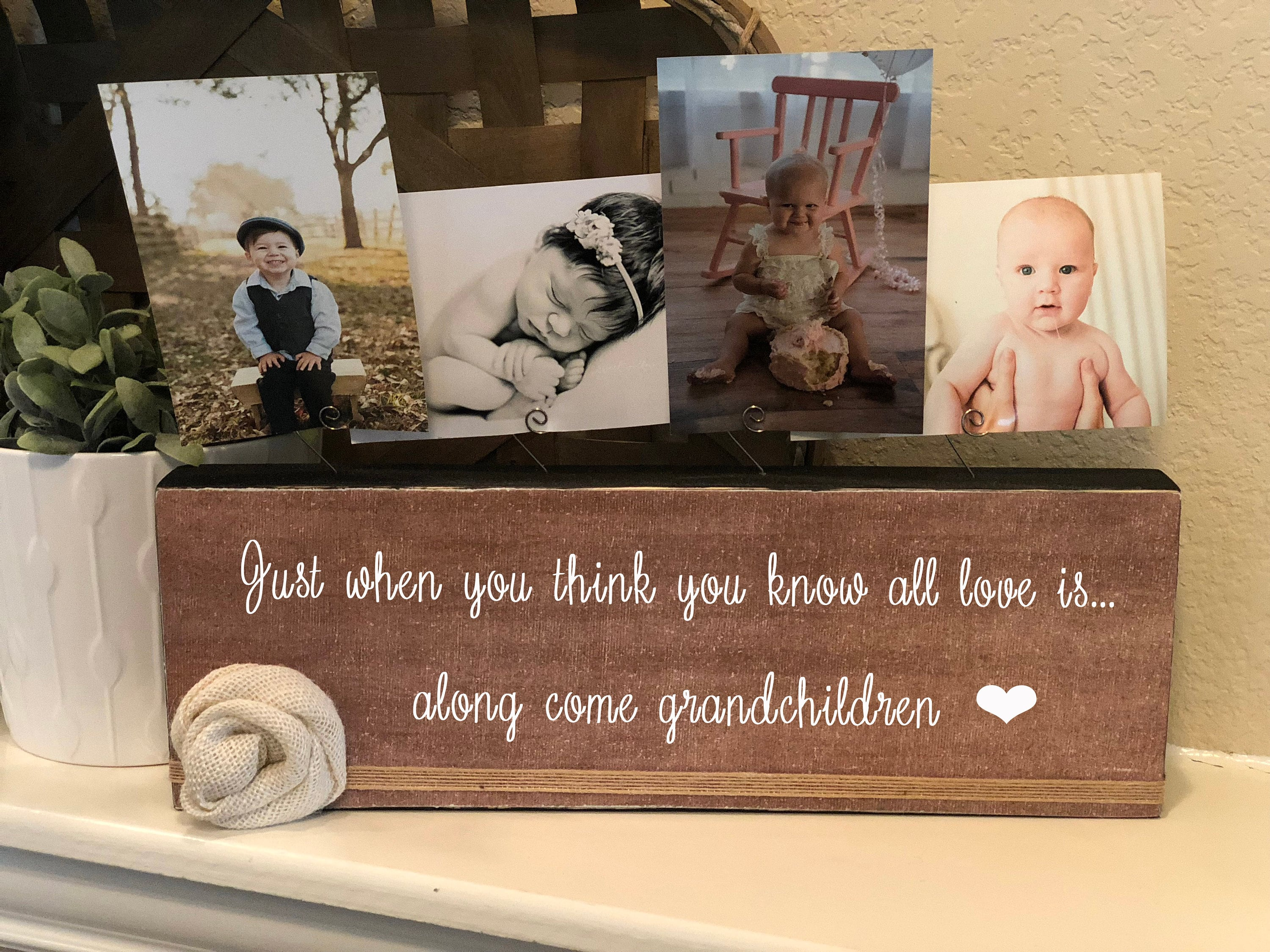 Personalized Picture Frame Gift For Grandma Nana Papa Aunt Birthday