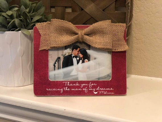 Parents Of The Groom Gift | Thank You For Raising The Man Of My Dreams | Personalized Wedding Thank You Gift For Parents Of The Groom