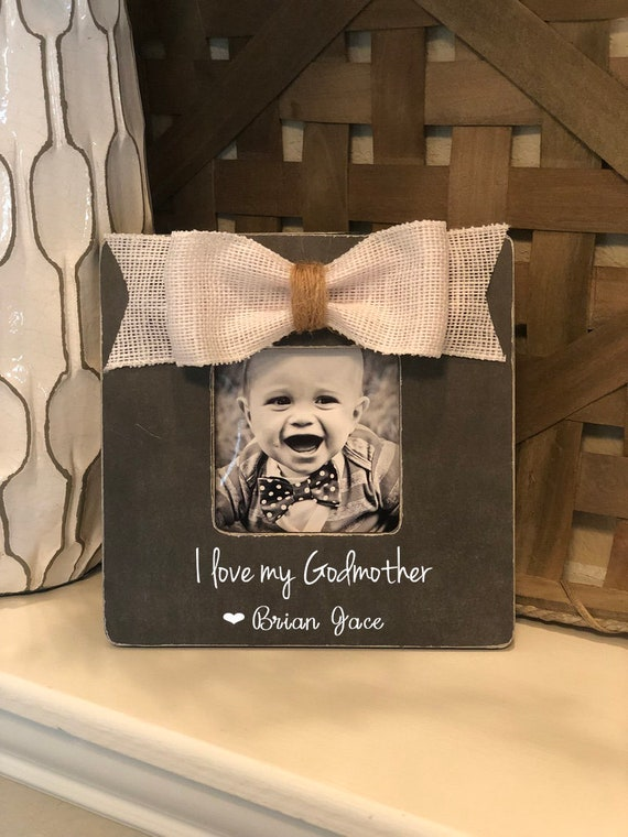 Godmother Gift | I Love My Godmother | Christmas Gift for Godmother | Godparents Frame | Godmother From Godchild Personalized Gift