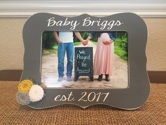 Pregnancy Reveal Baby Announcement Frame Gift For New Aunt Uncle ...
