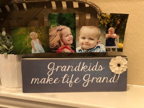 Grandparent Christmas Gift | Grandkids Make Life Grand Picture Frame For Grandparents