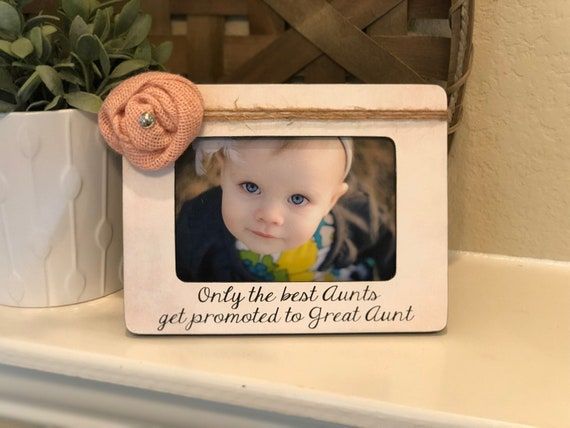 Great Aunt Frame | Gift For Great Aunt | Personalized Picture Frame Great Aunt | Gift From Kids