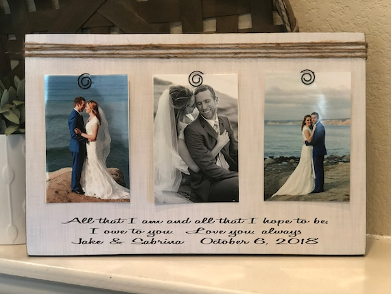 Wedding Thank You Gift For Parents Of The Bride | Groom | All That I Am And Hope To Be I Owe To You