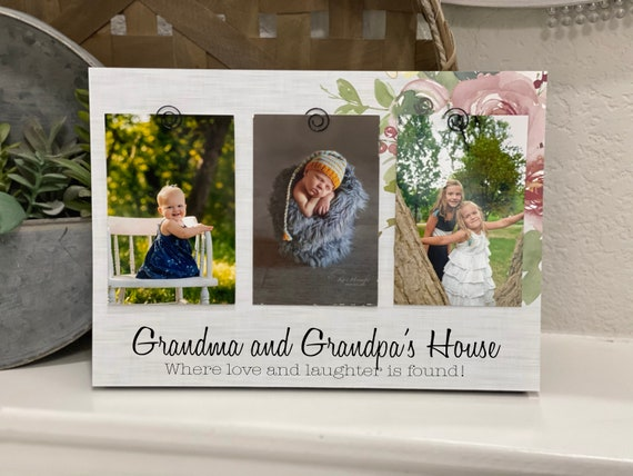 Christmas Gift For Grandparents Grandma Gift For Mimi Personalized 4x6 Picture Frame For Papa Poppa Grandma Gigi Nana Mimi Grandma Gift