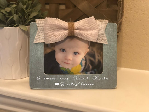 Aunt Gift | Aunt Picture Frame | Auntie Sister Gift | Personalized 4x6 Picture Frame For Aunt | I Love My Aunt Picture Frame Gift