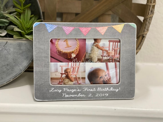 Personalized Baby's 1st Birthday Gift | First Birthday Picture Frame | Happy 1st Birthday | Baby Frame Gift | First Birthday Gift