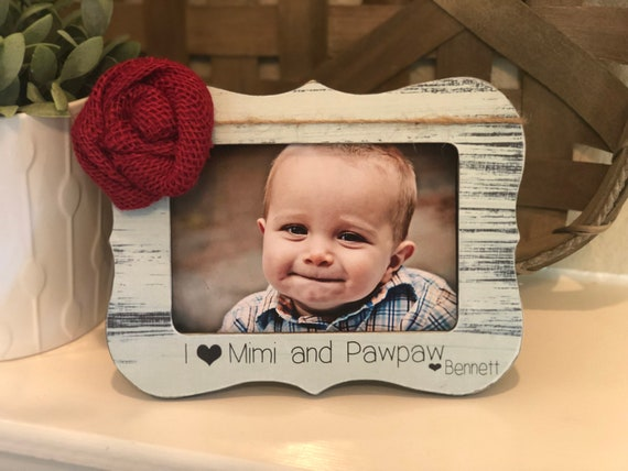 Mimi Christmas Gift | Grandparents Gift | Personalized Gift For Grandma | I Love Grandma Picture Frame | Christmas Gift For Grandma