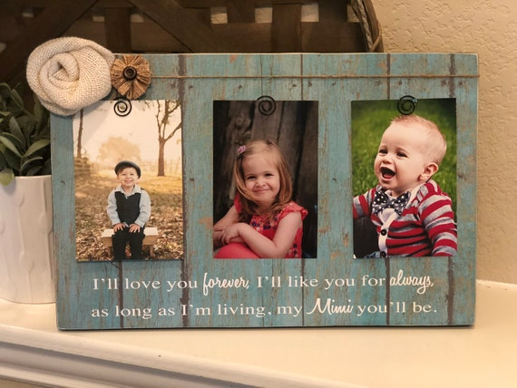Christmas Gift For Mimi | Mimi Picture Frame | Mimi Gift From Grandkids | I'll Love You Forever I'll Like You For Always