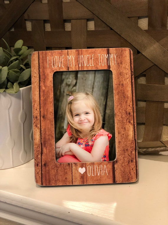 Uncle Personalized Picture Frame | Christmas Gift For Uncle | Personalized Gift From Niece Nephew