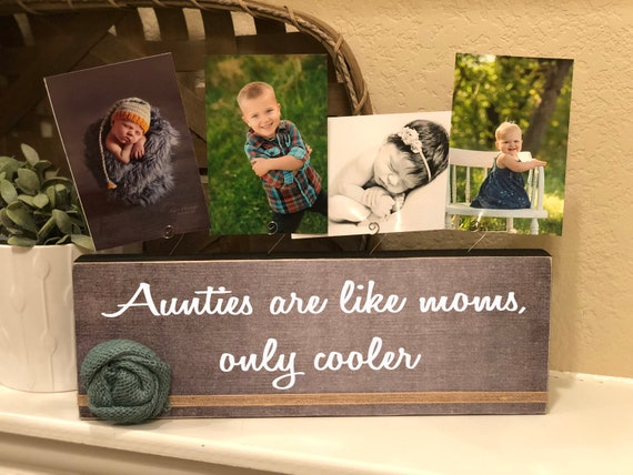 Aunt Christmas Gift Personalized picture frame board for aunt!   Gift for aunt auntie aunts are like moms only cooler multiple photo block