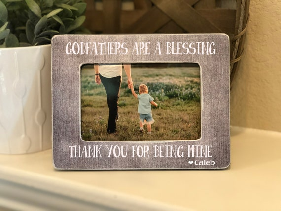 Gift For Godfather | Godfather Picture Frame | Personalized Baptism Frame | Godfathers Are A Blessing Fathers Day Gift for Godfather