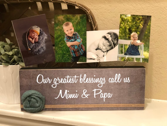 Christmas Gift Our Greatest Blessings Call Us Mimi Papa Grandma Grandpa | Personalized Gift For Grandparents