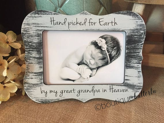 Hand Picked For Earth By My - Baby Announcement Grandparents Sign ...