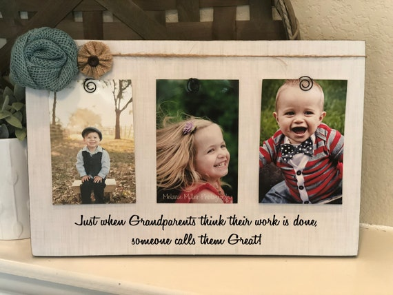 Great Grandparent Gift | Christmas Gift For Great Grandparents | Just When Grandparents Think Their Work Is Done...