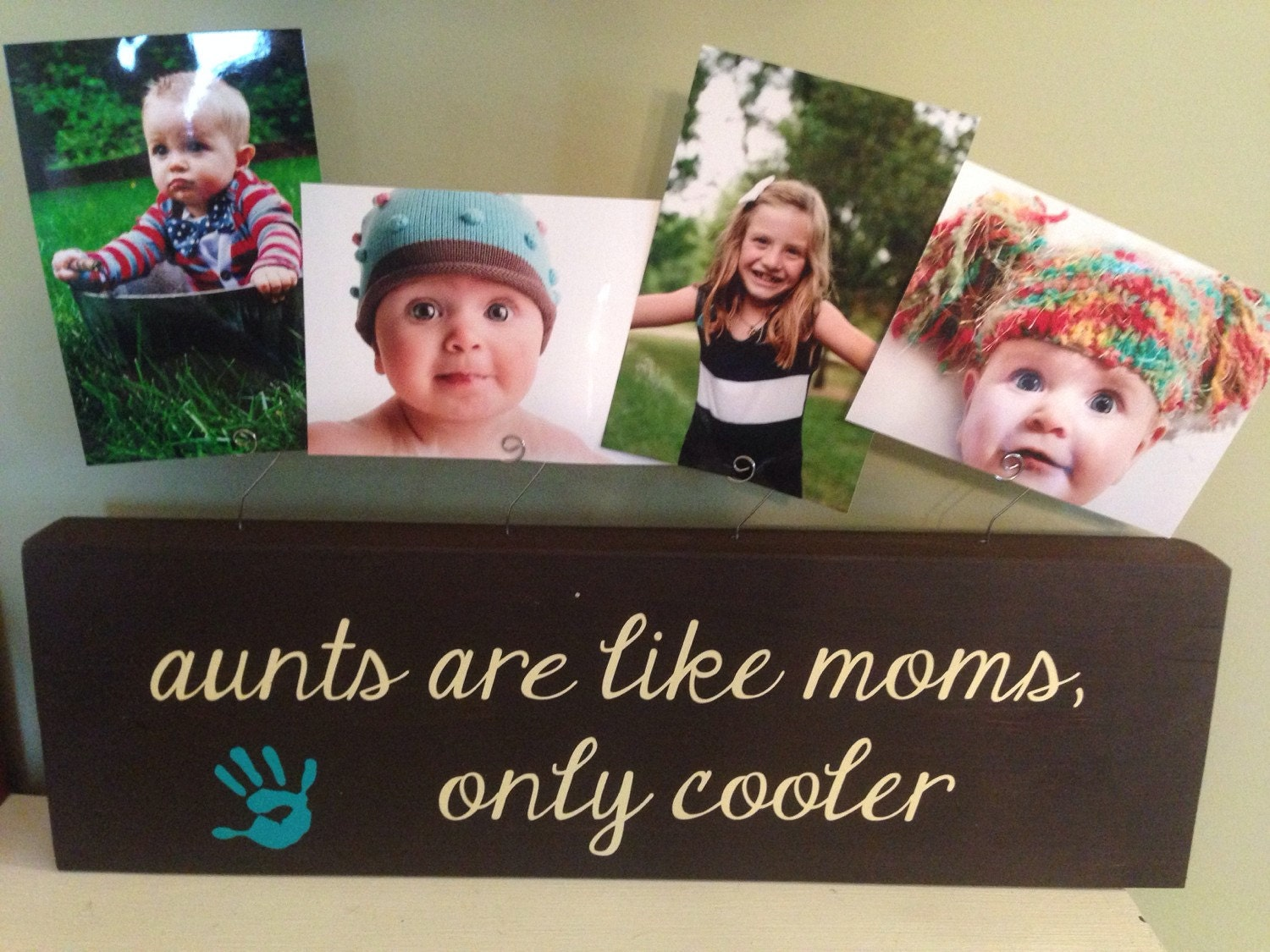 Personalized picture frame board aunt wedding baby shower mom sister ...