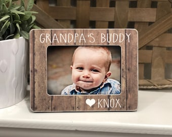 Grandpa Personalized Christmas  Gift | Christmas Gift Grandpa | I Love My Grandpa | Grandpa Personalized Gift | 4x6 Picture Frame Custom