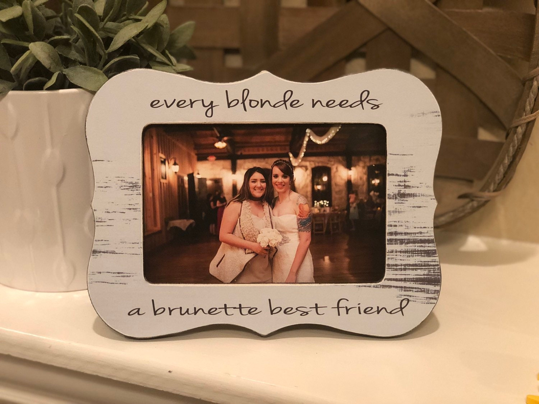 Best Friend Gift Blonde Brunette Ginger Unbreakable Bond Etsy