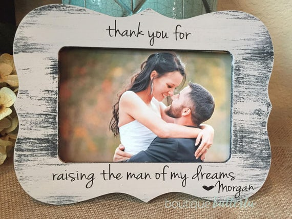 Thank You For Raising The Man Of My Dreams | Wedding Thank You Gift For Mother Of The Groom Parents Of The Groom