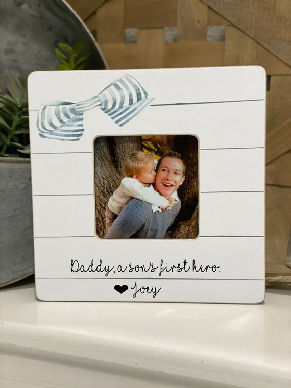 Father's Day Gift For Dad Daddy A Son's First Hero| New Dad Personalized Gift For Husband | Personalized Gift 4x6  Frame