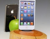Docking Station for  iPhone or iPod. Reclaimed wood. Simple beautiful natural live edge. FAST SHIPPING. Smartphone stand. Arizona #403