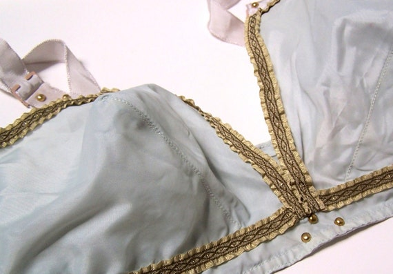 1950s Grecian Baby Blue Muse Bullet Bralette