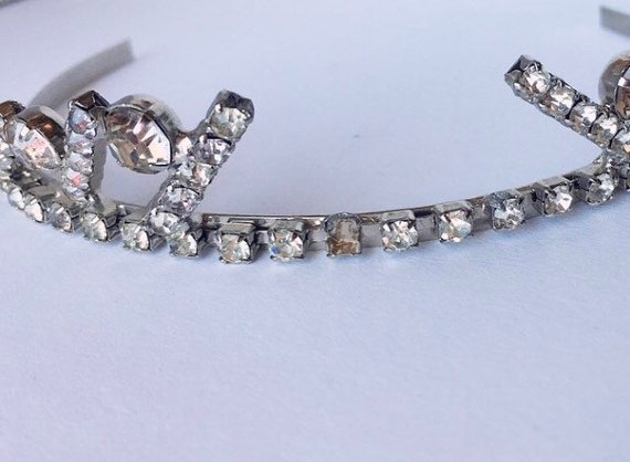 1990s Crystal Courtney Love Tiara Crown